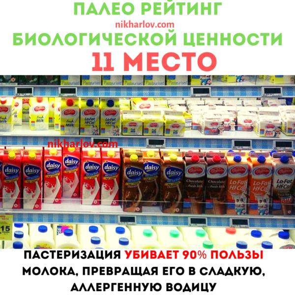 Пастеризованное молоко доктор ник полезная еда палео рейтинг